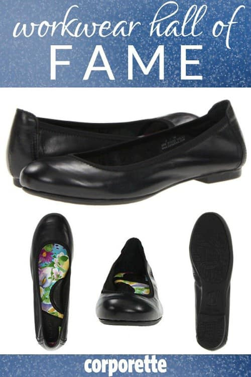 This round-toe flat is a reader favorite -- it's been around for years, is affordable, and readers swear by the comfort!