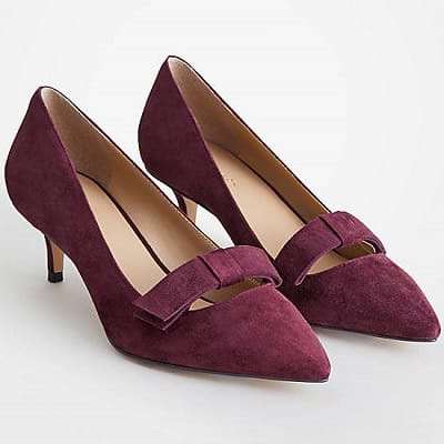 Purple heels for the office - Ann Taylor