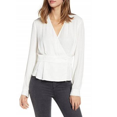 Frugal Friday's Workwear Report: Button Detail Wrap Top