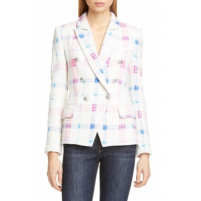 Splurge Monday's Workwear Report: Kenzie Double Breasted Tweed Blazer