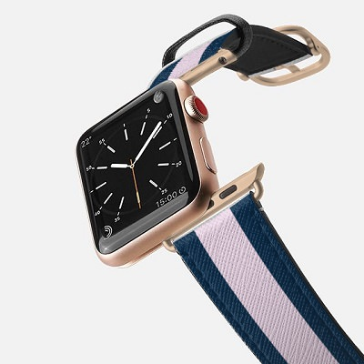 Coffee Break: Saffiano Leather Initial Apple Watch Band