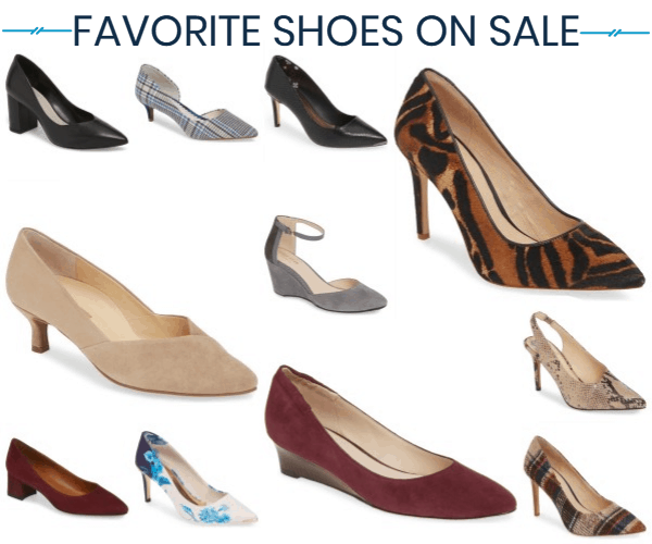 house ad for Corporette article rounding up our favorite shoes on sale May 2019