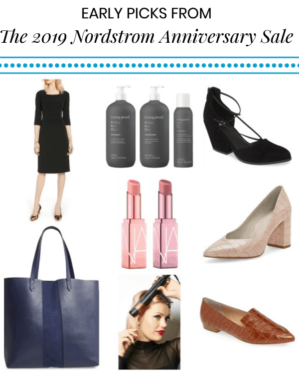collage of Corporette's Nordstrom Anniversary Sale 2019 early picks