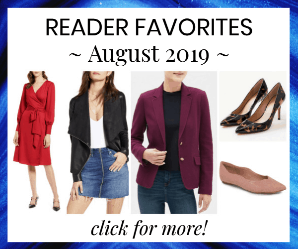 Corporette reader favorites -- most bought from August 2019