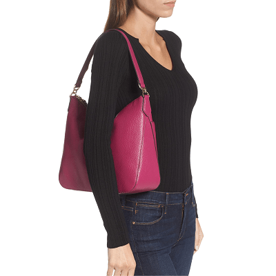 Coffee Break: Polly Leather Shoulder Bag