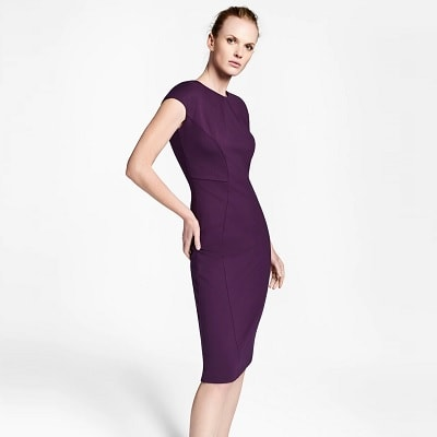 Tuesday's Workwear Report: Ponte Knit Cap-Sleeve Sheath Dress