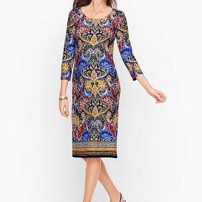 Wednesday's Workwear Report: Jersey Paisley Shift Dress