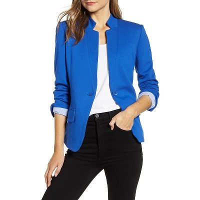 Wednesday's Workwear Report: Notch-Collar Cotton-Blend Blazer
