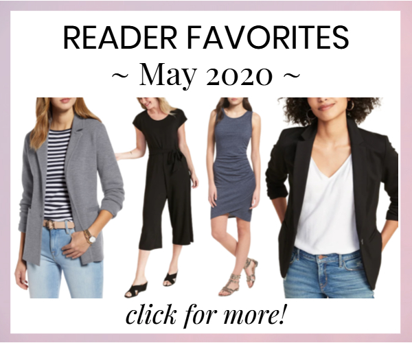 house ad for post rounding up Corporette readers' most-bought items from May 2020