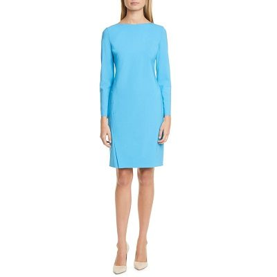 Tuesday's Workwear Report: Diwoma Long-Sleeve Stretch Wool Dress