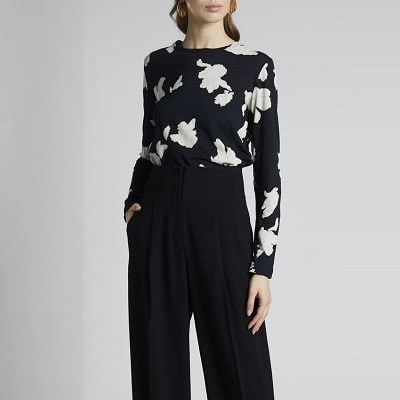 Splurge Monday's Workwear Report: Floral Print Jersey Long-Sleeve Tee