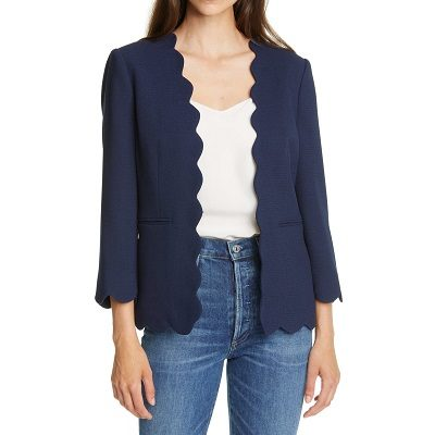 Splurge Monday's Workwear Report: Furna Scalloped Jacket