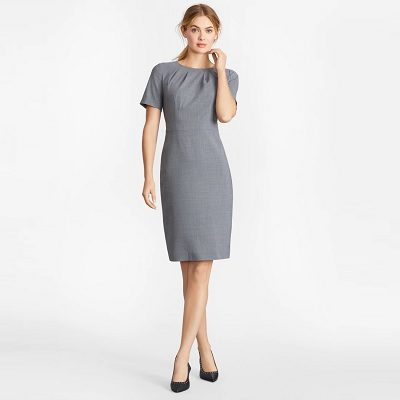 Tuesday's Workwear Report: Houndstooth BrooksCool® Merino Wool Sheath Dress