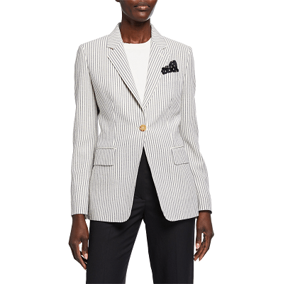 Splurge Monday's Workwear Report: Acerbo Ticking-Striped Blazer