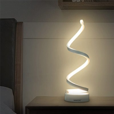 Coffee Break: Spiral LED Table Lamp