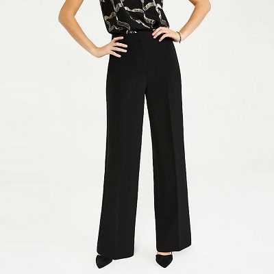 Tuesday's Workwear Report: The High-Rise Wide-Leg Pant In Doubleweave