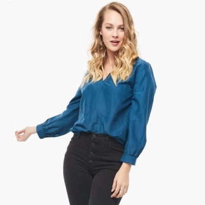 Thursday's Workwear Report: Sylvia Ruffle Neck Blouse