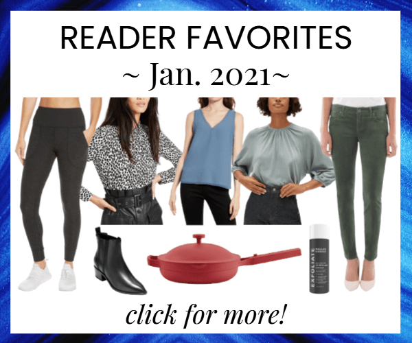 house ad showing reader's most-bought items for last month (Jan. 2021)