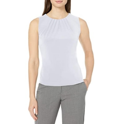 Home.fit Pleat-Neck-Sleeveless-Cami Some of the Top Things Readers Bought in February 2021…
