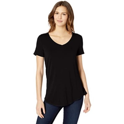 Home.fit Relaxed-Fit-Short-Sleeve-V-Neck-Tunic Some of the Top Things Readers Bought in February 2021…