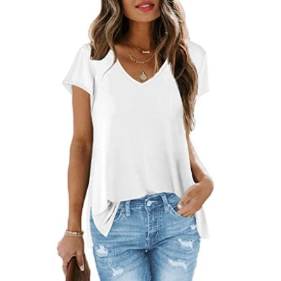 Home.fit V-Neck-T-Shirts-Casual-Summer-Tops-with-Cap-Sleeve Some of the Top Things Readers Bought in February 2021…