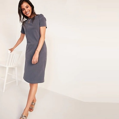 Home.fit Vintage-Garment-Dyed-Midi-T-Shirt-Dress-for-Women Workwear Finds! Here's Everything Readers Bought for Work in March 2021