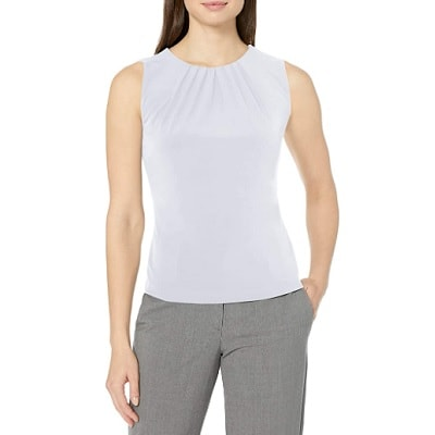 Home.fit Womens-Pleat-Neck-Sleeveless-Cami Workwear Finds! Here's Everything Readers Bought for Work in March 2021