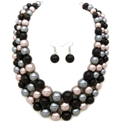 Home.fit Womens-Simulated-Faux-Three-Multi-Strand-Pearl-Statement-Necklace-and-Earrings-Set Workwear Finds! Here's Everything Readers Bought for Work in March 2021